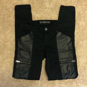 EXPRESS Black Faux Leather Jegging Leggings